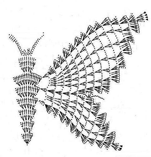бабочка крючком схема и описание для начинающих