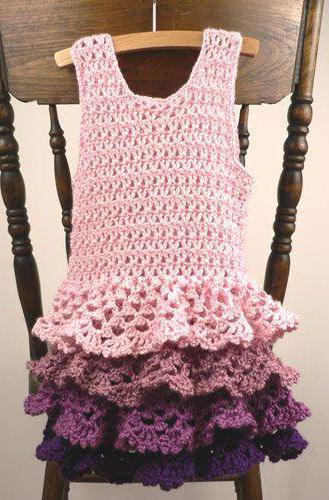вязаные платья детские со схемами вязания
