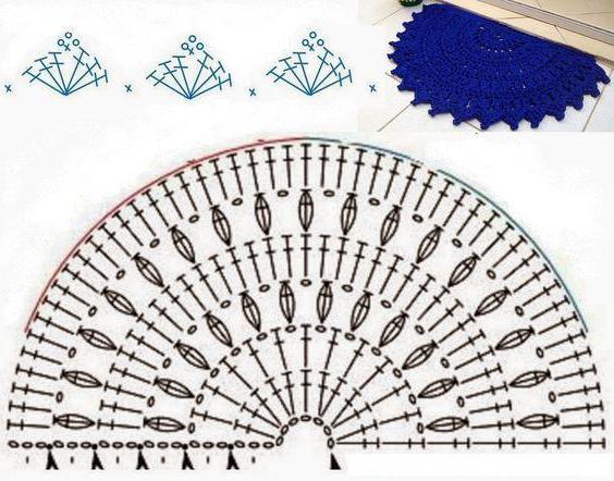 как связать крючком круглый коврик для начинающих из тряпок