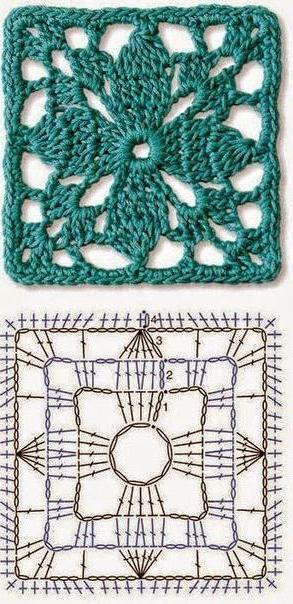 ажурный квадрат для вязания туники