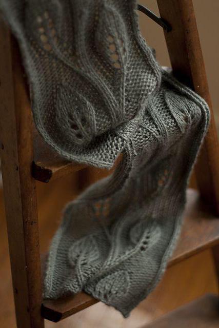 вяжем ажурный шарф спицами схемы и описание