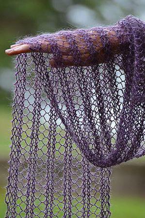 вязание ажурных шарфов спицами схемы и описание