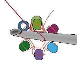 вязание крючком с бисером схемы