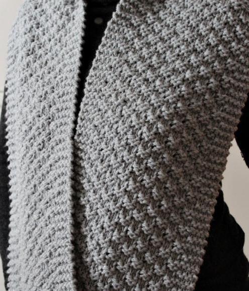 Схема вязания шарфа снуд спицами узор