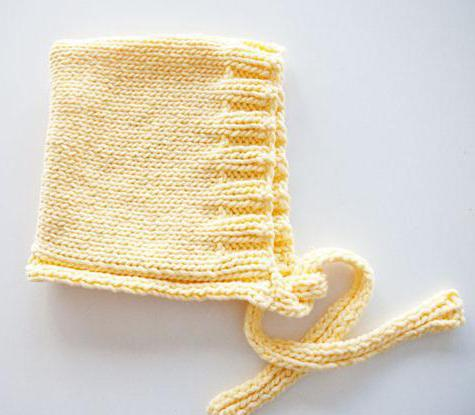 вязание детского капора спицами схемы