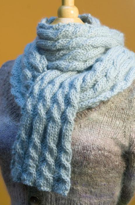 Шарф косичка схема вязания.