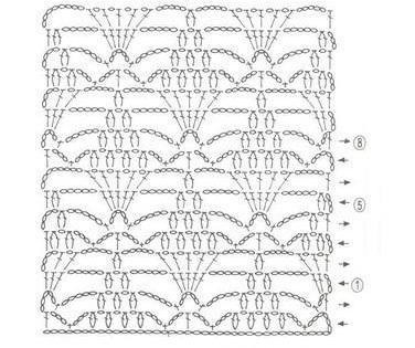 манишка крючком для женщин схемы вязания