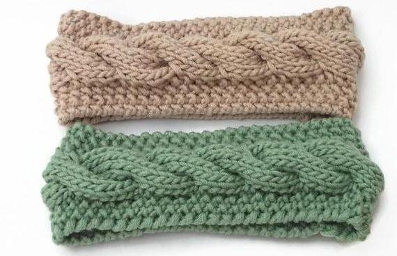 вязание повязка на голову спицами