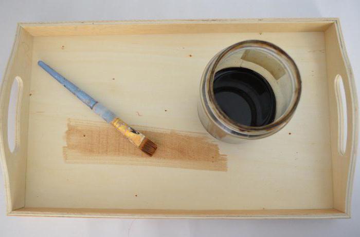 декупаж деревянного подноса мастер класс