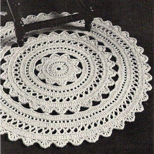 Вязание крючком ковриков для пола из шнура