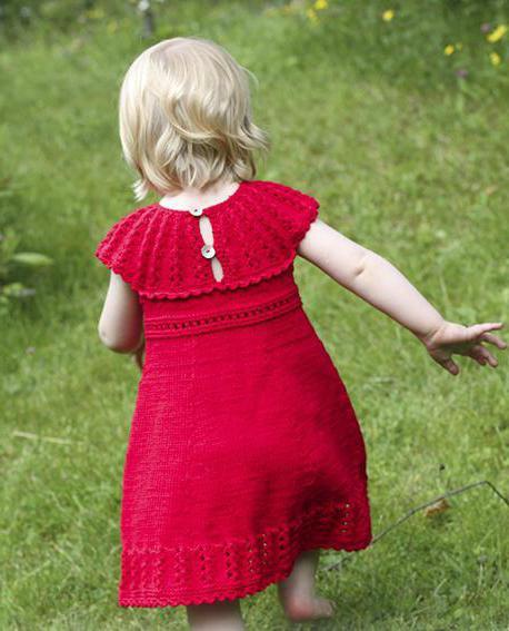 вязаные сарафаны для девочек с описанием спицами