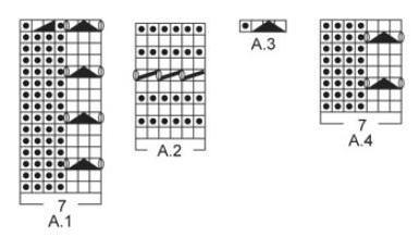 схема ажурного узора для сарафана
