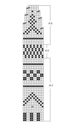 схема узора для пончо