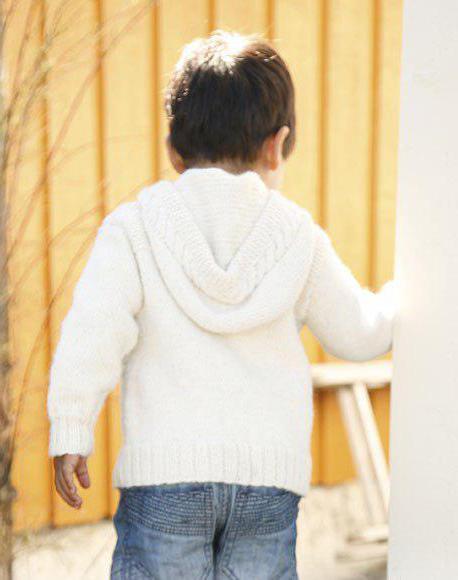 Кофта вязаная для ребенка спицами со схемами