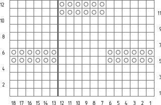 схема узора шахматка