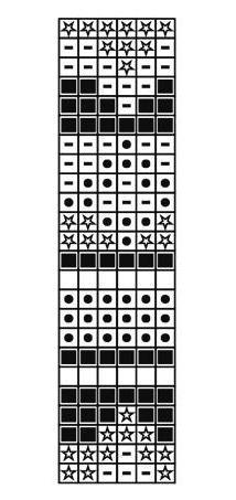 схема вязания жаккарда крючком