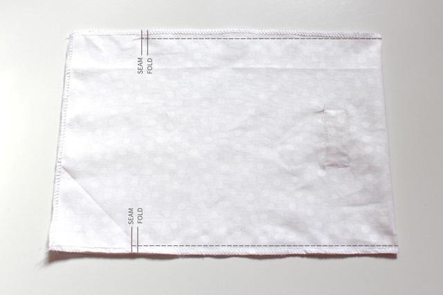 процесс шитья мешочка