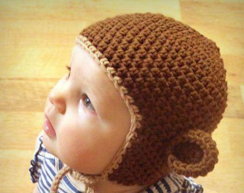 шапка в виде мартышки
