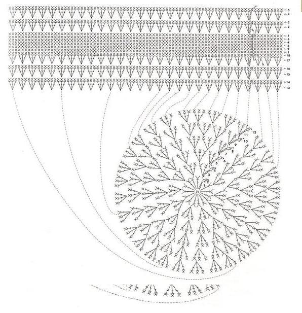 схема вязания основы