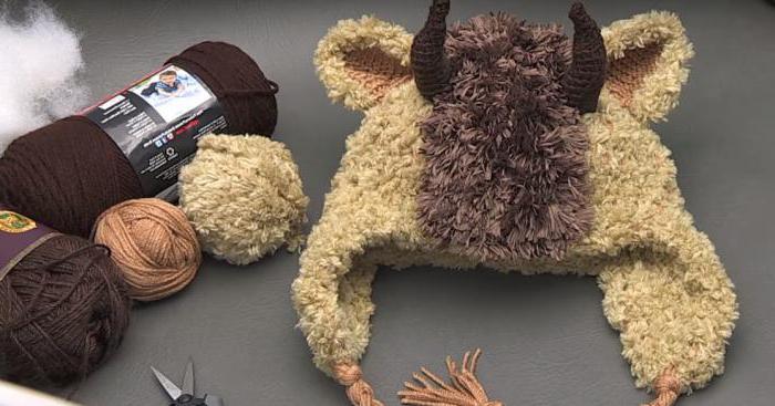 материалы для вязания зверошапки