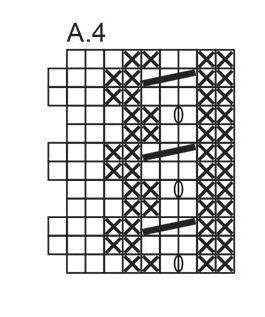 схема к узору колоски