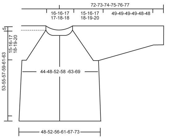 чертежи выкроек для ажурной кофты-реглана