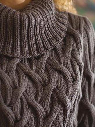 Вязание спицами объемные жгуты