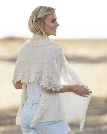 пуховый платок схема вязания спицами кайма