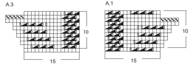 схема вязания пухового платка спицами для начинающих