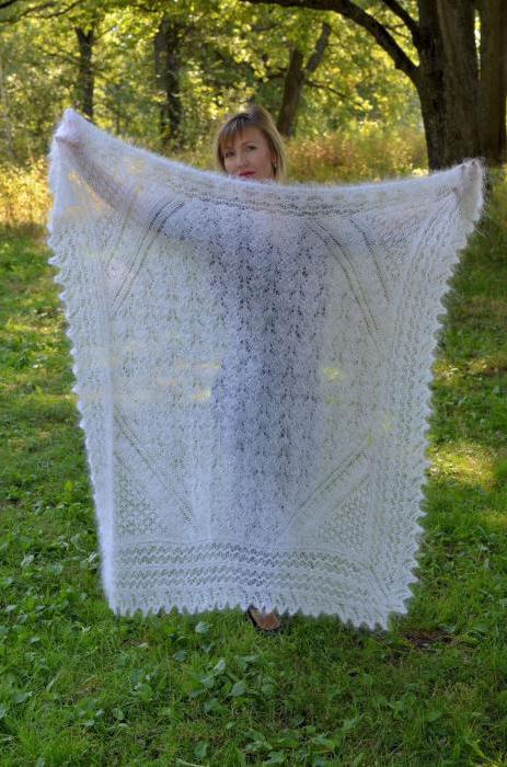 воронежский пуховый платок схема вязания спицами