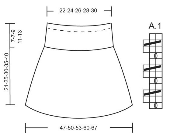 юбки для девочки спицами схемы и описание