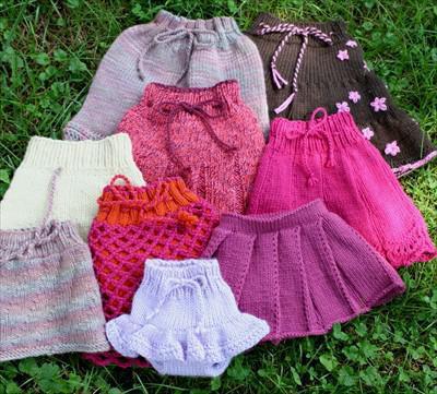 юбки для девочек спицами с описанием