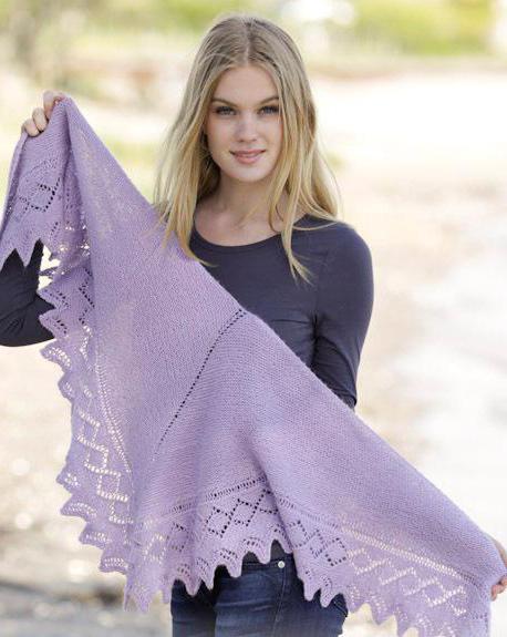 кайма спицами для шали