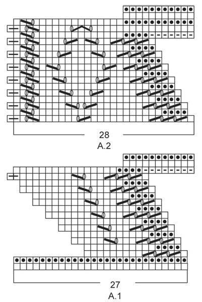 кайма спицами схемы и описание