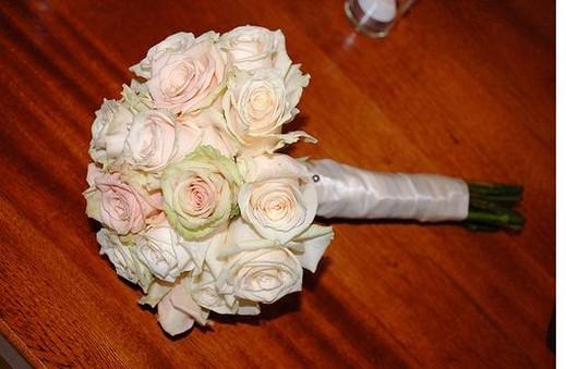 spiral bride bouquet