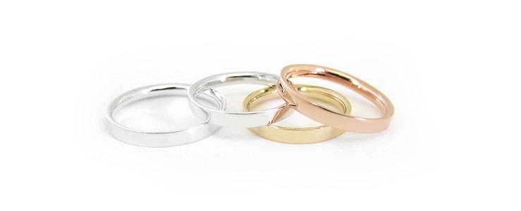 кольца из разных сплавов