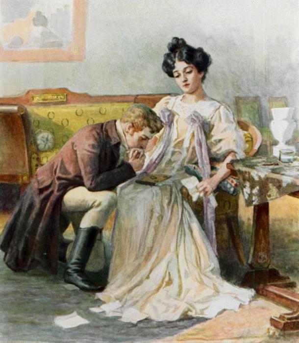 Отношения Онегина и Татьяны в романе А