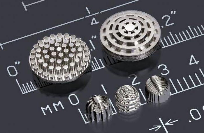 Малоразмерные детали изготовленные с помощью аддитивных технологий