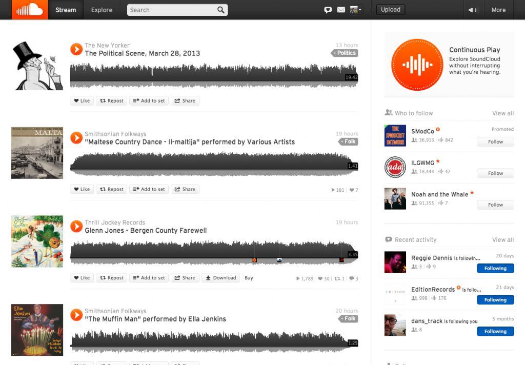 Треки в SoundCloud