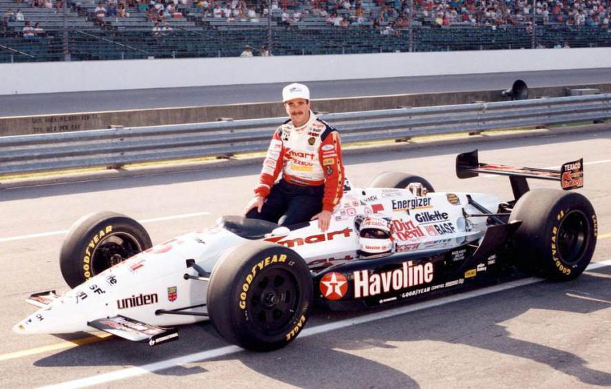Nigel Mansell participates in IndyCar in 1993.
