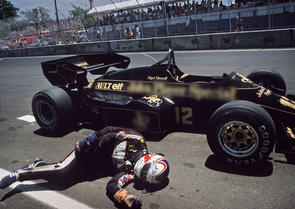 Mansell, unconscious