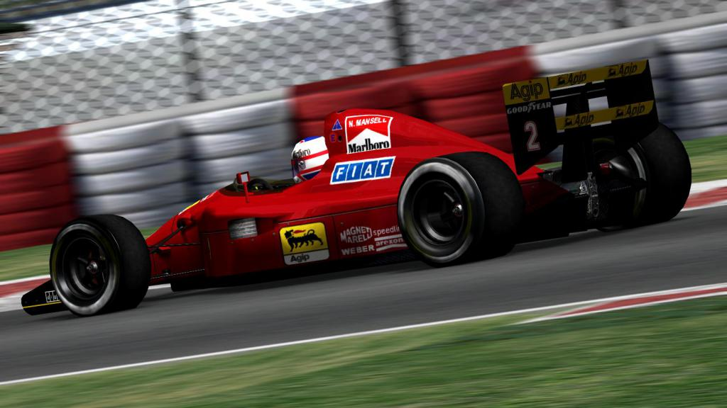 Mansell at Ferrari Team