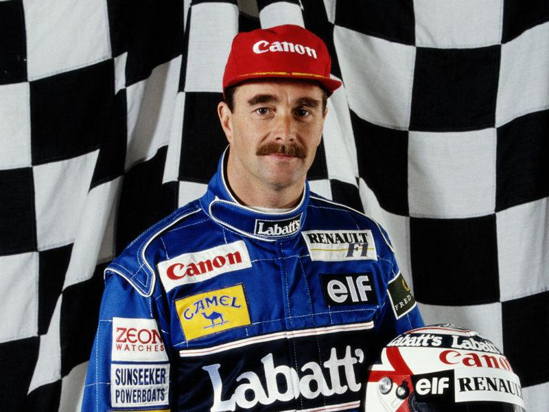 Racing driver Nigel Mansell