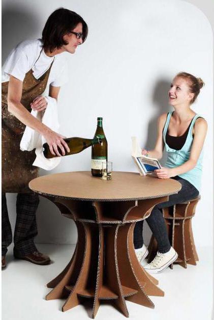 как сделать мебель из бумаги