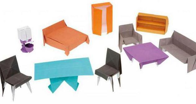 как сделать мебель из бумаги своими руками оригами