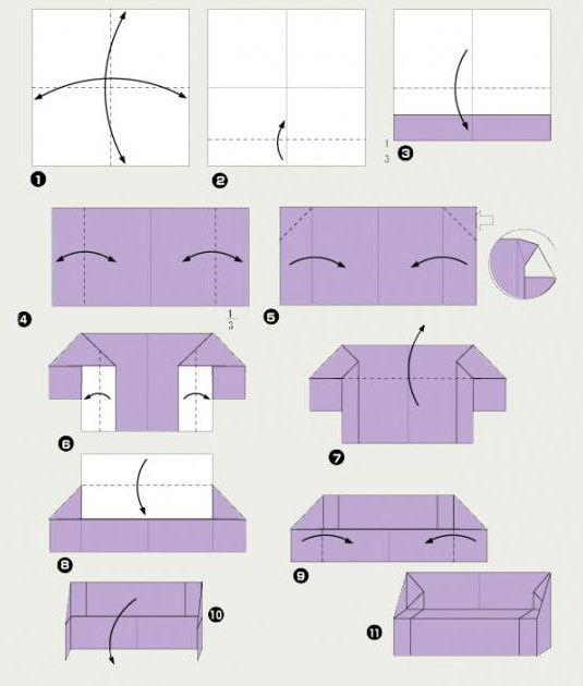 как сделать мебель для кукол из бумаги без клея