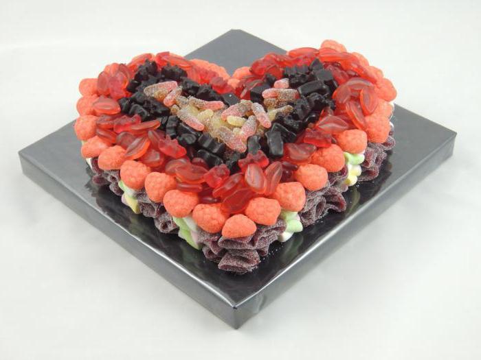 торт украшенный сладостями рецепт