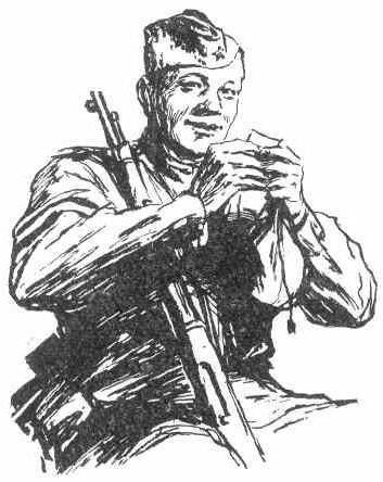 описании картинка солдата героя в поэме своей квартиры