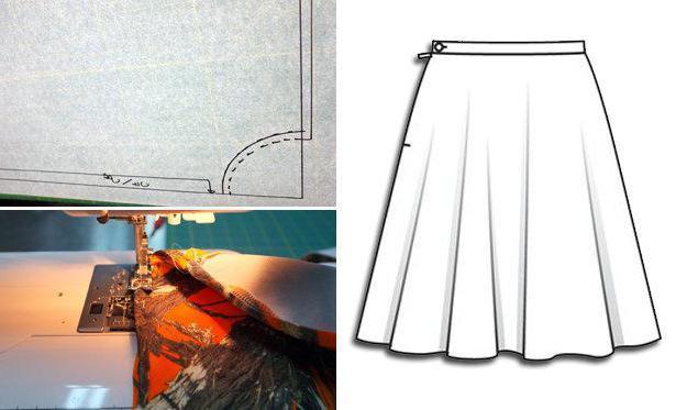 как правильно раскроить юбку солнце