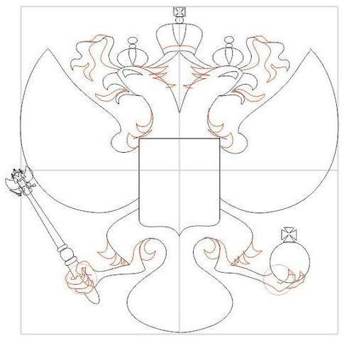 Как нарисовать красного орла с герба